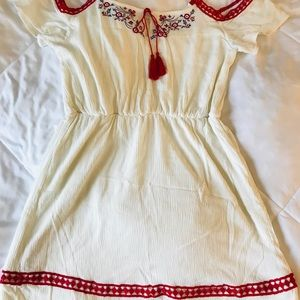 Off White and Red Summer dress size XL